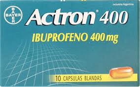 ACTRON 400 MG 10 CAP BLANDAS